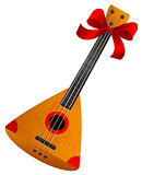 Balalaika Russian retro national traditional musical instrument. Stringed musical instrument