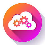 Cloud Logo Cloud Services Cloud Computing Gear Logo Vector cloud settings