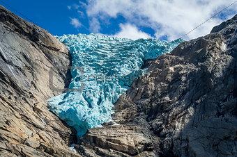 Briksdalsbreen glacier close view
