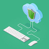 Cloud Computing Technology Isometric
