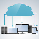 Cloud computing concept info graphic template