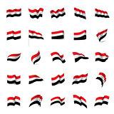 Yemeni flag, vector illustration