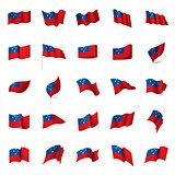 Samoa flag, vector illustration