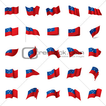 Samoa flag, vector illustration