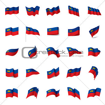 liechtenstein flag, vector illustration