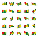 togo flag, vector illustration