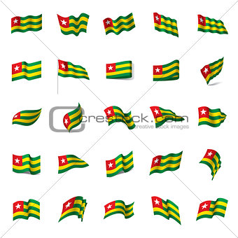 togo flag, vector illustration