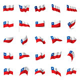Chile flag, vector illustration