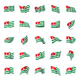 Abkhazia flag, vector illustration