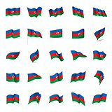 Azerbaijan flag, vector illustration