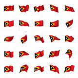 east timor flag, vector illustration