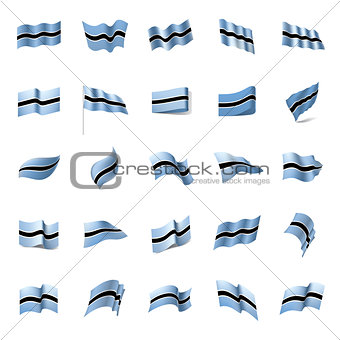 Botswana flag, vector illustration