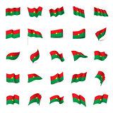 Burkina Faso flag, vector illustration
