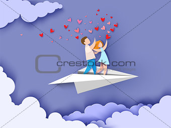 Abstract background with couple in love
