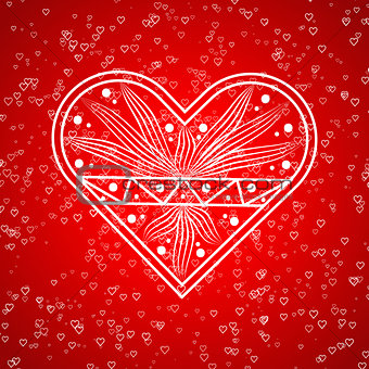 Valentine card love hearts vector. Sketch designed loves heart.