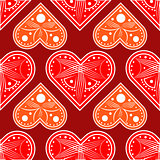Graphic red hearts love vector.Graphic silhouette of the heart. Feast of the Holy Valentine. Seamless pattern Happy Valentine s day.