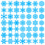 Set snowflakes icons on white background, vector illustration