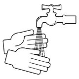 Wash your hands. Icon on white background