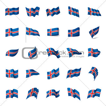 Iceland flag, vector illustration