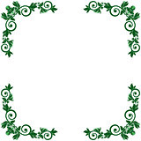 Pattern with green floral frame