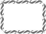 Pattern with black floral frame