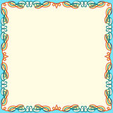Greeting card with color swirl frame