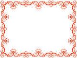 Red floral Valentine frame