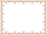 Ornate floral Valentine frame