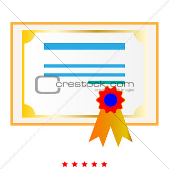 Certificate it is icon .