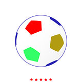 Soccer ball it is icon .