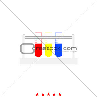 Test tube it is icon .