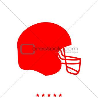 American football helmet it is icon .