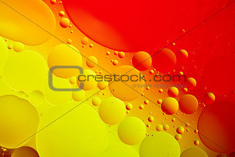 oil drops on a water surface abstract background