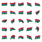 Gambia flag, vector illustration