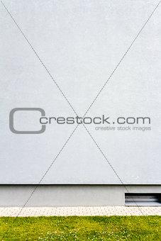Modern light blue plaster wall