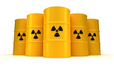 Yellow Radioactive Waste Barrels