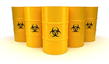 Yellow Biohazard Waste Barrels