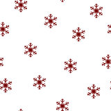 Holiday seamless pattern. Merry Christmas and Happy New Year background with snowflakes.