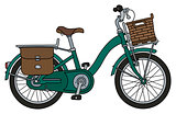 The retro green bicycle