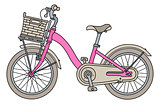 The retro pink bicycle
