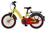 The funny yellow bicycle