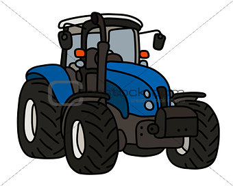 The blue heavy tractor