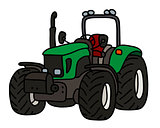The green tractor