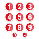 Number set vector label