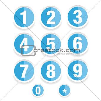 Number set vector label