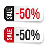Sale label half price sticker