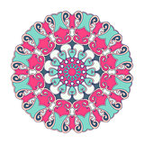 Oriental vector round ornament with arabesques elements