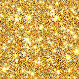 Gold glitter vector texture. Golden sparcle background. Luxory backdrop. Amber particles. Fashion gleam pattern for design party invitation, card, poster, banner, web