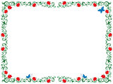 Colourful floral frame as a greeting card