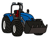 The blue small loader